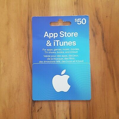 App Store & Itunes $50 Canadian Gift Card CODE MESSAGED, SEE DESCRIPTION