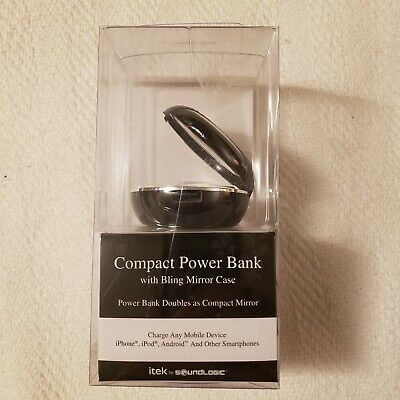 Compact  Bling Mirror  Compact Battery Pack Charger , Back up Power Bank ,NEW