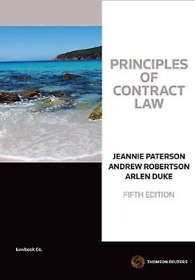 PDF OF: Principles Of Contract Law 5th Ed Jeannie Paterson, Andrew Robertson,