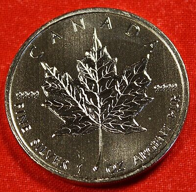 2009 CANADIAN MAPLE LEAF DESIGN 1 oz .9999% SILVER ROUND BULLION COLLECTOR COIN