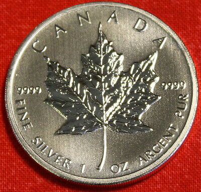 2012 CANADIAN MAPLE LEAF DESIGN 1 oz .9999% SILVER ROUND BULLION COLLECTOR COIN