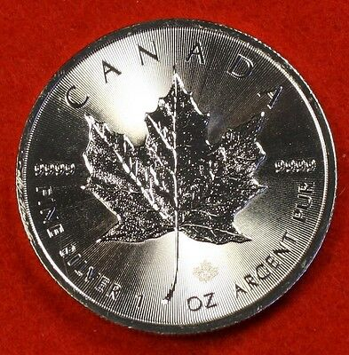 2016 CANADIAN MAPLE LEAF DESIGN 1 oz .9999% SILVER ROUND BULLION COLLECTOR COIN