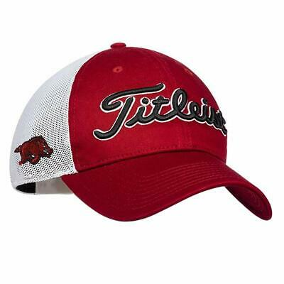 14a09671d9b Titleist NCAA Collegiate Mesh Performance Adjustable Golf Hat Cap - Arkansas
