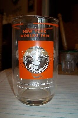 1964 New York Worlds Fair Juice Glass Unisphere U S Steel Vg-Ex 4-1/4""