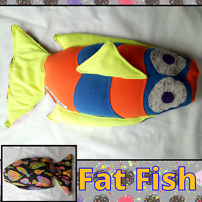 Weighted fish toy, pillow, lap blanket