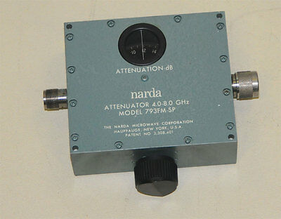 Narda 793FM-SP, 4-8 GHz, Variable Attenuator