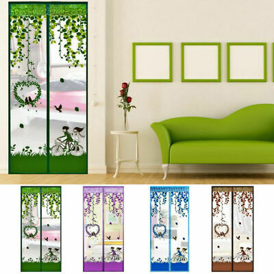 Mew 100*210cm Magic Mesh Screen Net Door With Magnets Anti Mosquito Bug Curtains