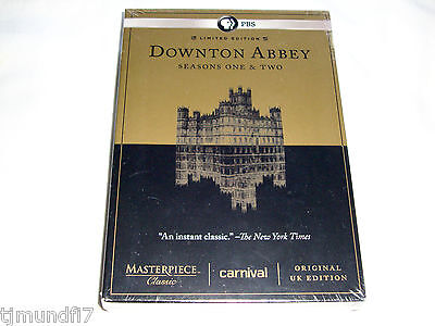 Downton Abbey Seasons 1-2, 1 & 2,Masterpiece Classic (DVD,'12,6-Disc) New&Sealed