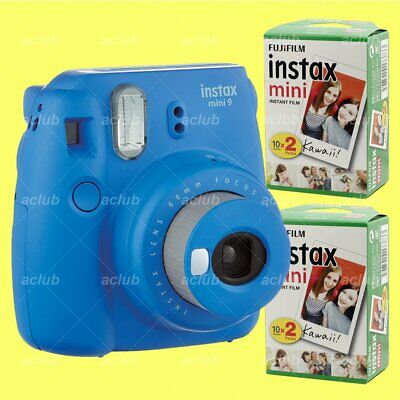 Fujifilm Instax Mini 9 Instant Film Camera (Cobalt Blue) with 40 Sheets