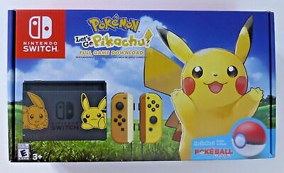 nintendo switch lets go pikachu and eevee edition