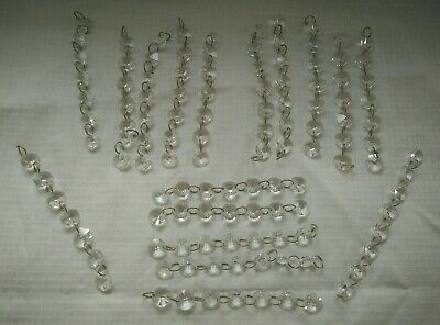 Vintage Crystals Glass round Drops 120 pieces
