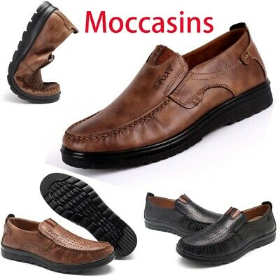 Men's Summer Suede Leather Shoes Breathable Antiskid Loafers Moccasins Fashion