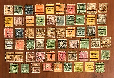 Lot of (59) - U.S. Postage Stamps - CITY CANCELLED