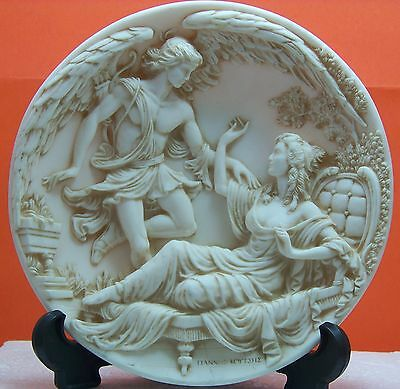 Greek Love Stories Marble Plate Eros & Psyche 1989 Numbered