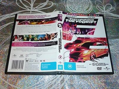 The Fast And The Furious Tokyo Drift Supercharged Edition (Dvd, M)