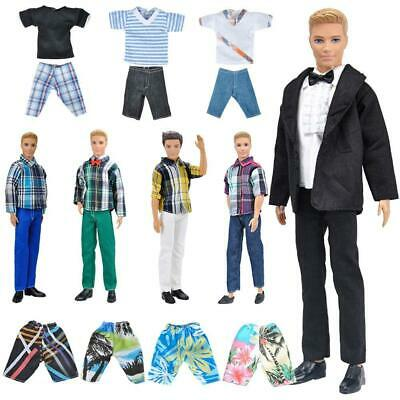6f402ebb305 LOT 5SETS Casual Wear Doll Clothes Outfits Tops Shirt Pants for Boy ...