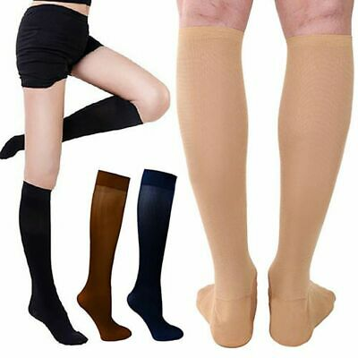 (3 Pairs) Copper-Compression Socks 30-40mmHg Graduated Support Mens Womens S-XXL