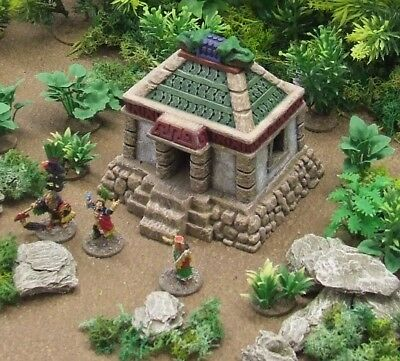 AZTEC & GHOST ARCHIPELAGO (suited) - 'SMALL TEMPLE' - PRE PAINTED TERRAIN
