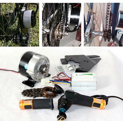 350W Electric Bicycle Engine Kit Include Accelerator Handle With Key Switch