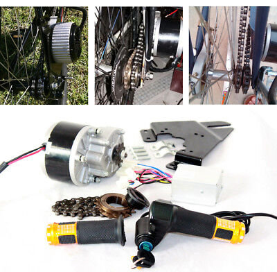 250W Electric Brush Motor For Bicycle Electric Accelerator With Key Switch