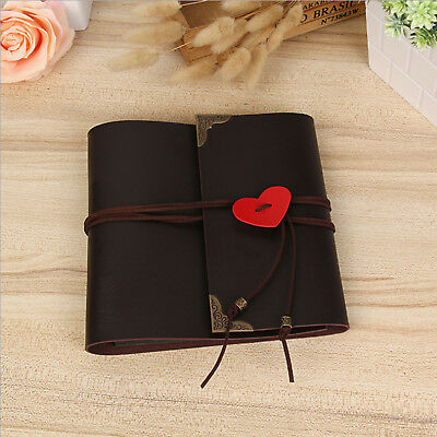 30 Pages 120 Photo Album PU Leather Scrapbook Travel Holiday Party Gift DIY