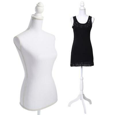 Female Mannequin Torso Dress Clothing Display w/ Tripod Stand Foam Style