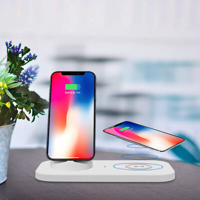 USB 3in1 Qi Wireless Charger Charging Dock Stand Mat Pad Station For Samsung S10