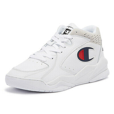 bfde22cf4 CHAMPION ZONE MID Mens White Trainers Lace Up Sport Casual Shoes ...