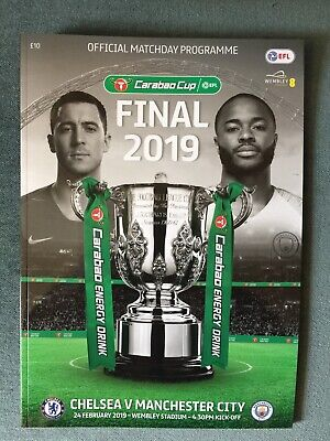2019 Official Carabao Cup Wembley Final Chelsea V Manchester City Programme New