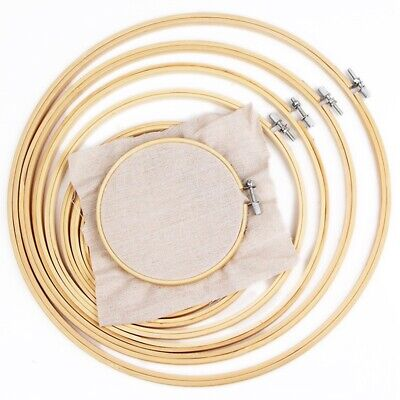 Embroidery Wooden Frame Hoop Ring Cross Stitch Sewing Tools Art Bamboo Crafts DG