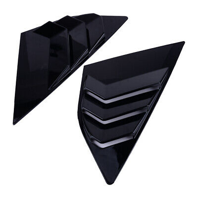 Pair For Ford Focus ST RS MK3 Hatchback Glossy Black Window Side Louvers Vent