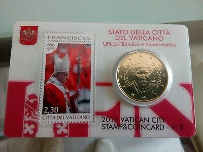 Vatican Stamp & Coin Card n 8 – 2015