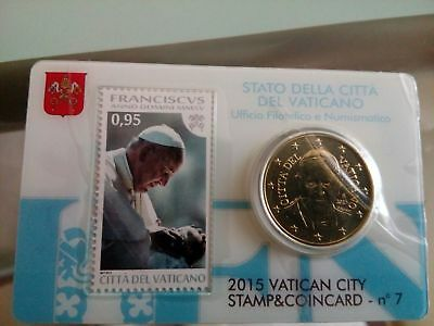 Vatican Stamp & Coin Card n 7 – 2015