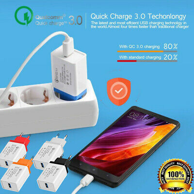 Universal 5V/9V/12V Fast Quick Charge QC3.0 USB Travel Home Wall Charger Adapter