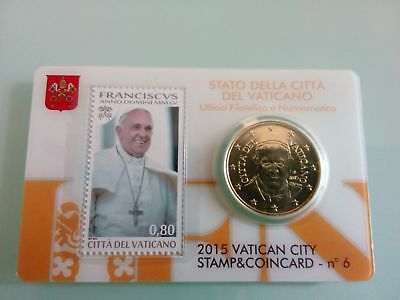 Vatican Stamp & Coin Card n 6 – 2015