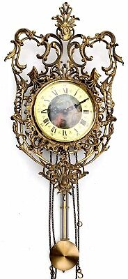 Cast Brass German Wall Clock