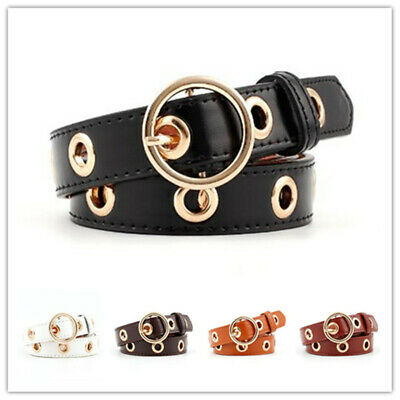1pcs Women Fashion Hollowed-out Air Eye Waist Belt Faux Leather Buckle Waistband
