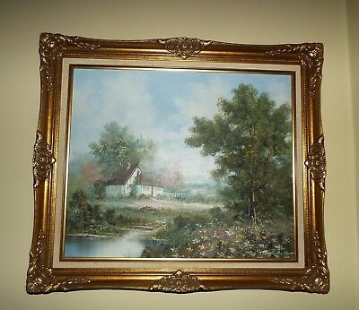 Beautiful Original Signed And Framed Oil Painting R. Volte Look!!!!