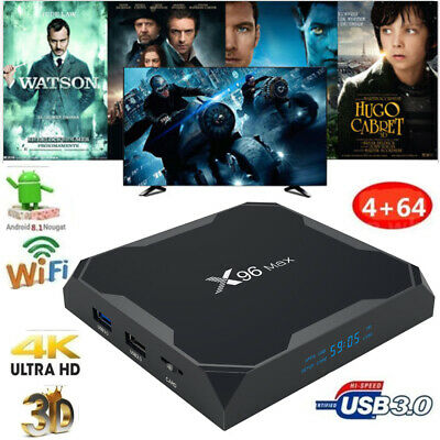 X96 MAX 4Go/64Go Android 8.1 TV BOX S905X2 Quad Core 4K WiFi 3D HDR Media BT4.1