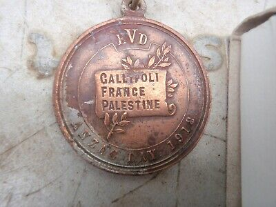 1918 A.I.F. Medallion, Gallipoli,, France,Palestine