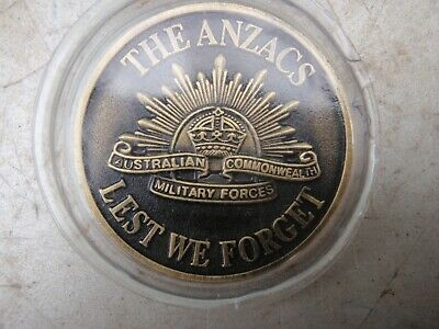 The Anzac's  Medallion, Commemorative, Rising Sun.