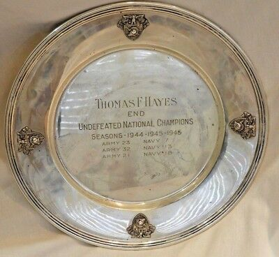 1940s J.E. Caldwell West Point Army Navy Sterling Silver Championship Charger