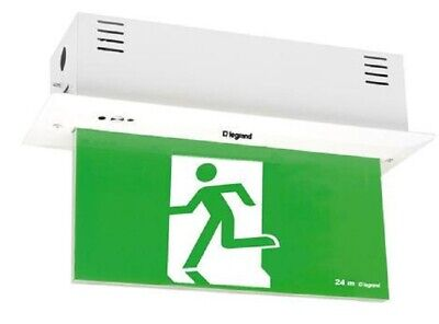 Legrand EDGELIGHT LED EXIT SIGN DIFFUSER 4x1W Double Sided, Running Man Straight