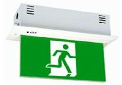 Legrand EMERGENCY LED EXIT SIGN DIFFUSER 4x1W Running Man Straight, Green/Black