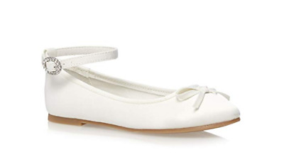 Debenhams Ivory Satin Pumps UK 2 EU 35 JS52 78