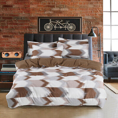 Black White Checked Quilt Doona Duvet Cover Set Double/Queen/King Size Bed Newly