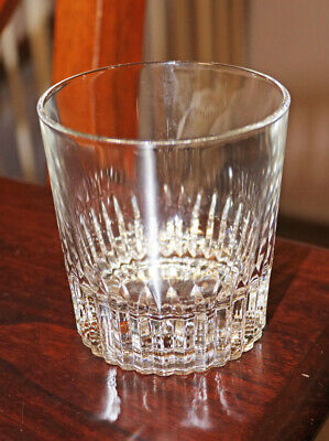 Three Crisal Lead Crystal Cut Glass Old Fashioned Whiskey Glasses Portugal