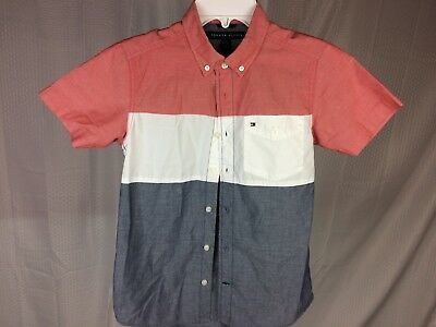 Tommy Hilfiger Short-Sleeve Tee NWT Boy/'s // Youth Girls T Shirt ColorBlock