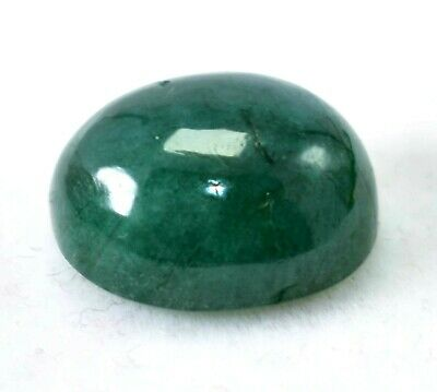 14.60 Ct 100% Natural Green Zambian Emerald GIE Certified Oval Loose Gemstone