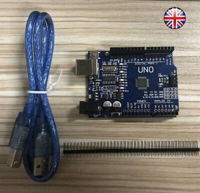 Arduino Uno R3, Rev3, 328, ATmega328P, CH340G Compatible  Board UK FAST